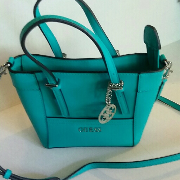 bf6a4992e0d2 Guess Handbags - NWOT STUNNING TURQUOISE BLUE GUESS SHOULDER BAG!